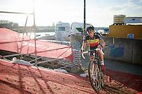 Sven Nys (BEL/Crelan-AAdrinks) soloing dominantly to victory<br /> <br /> Jaarmarktcross Niel 2014