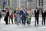 Military Christmas at Madrid Royal Palace. Juan Carlos Borbon , Sofia de Grecia, Felipe Borbon, jl Zapatero..Photo: MAC / ALFAQUI