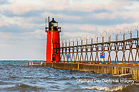64795-02517 South Haven Lighthouse early morning South Haven,  MI