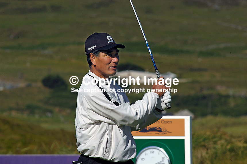 Katsuyoshi Tomori, Japan, professional, golfer, Irish Seniors Open, Ballyliffin Old Course, Co Donegal, Rep of Ireland, 200806207746    ..Copyright Image from Victor Patterson, 54 Dorchester Park, Belfast, UK, BT9 6RJ..Tel: +44 28 9066 1296.Mob: +44 7802 353836.Voicemail +44 20 8816 7153.Skype: victorpattersonbelfast.Email: victorpatterson@mac.com.Email: victorpatterson@ireland.com (back-up)..IMPORTANT: If you wish to use this image or any other of my images please go to www.victorpatterson.com and click on the Terms & Conditions. Then contact me by email or phone with the reference number(s) of the image(s) concerned.