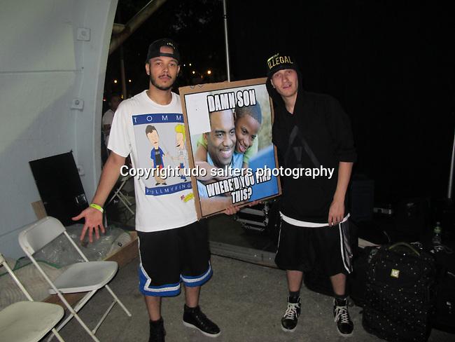 Flosstradamus Backstage at SummerStage Presented by AT&amp;T <br /> Araabmuzik / Flosstradamus / Teengirl Fantasy / Nick Hook Co-Presented by RED BULL MUSIC ACADEMY, NY 8/20/12
