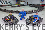 Kingdom Karting launch school Tours .Pictured Gary Horan, Tom Murphy and  Charlie Cooney