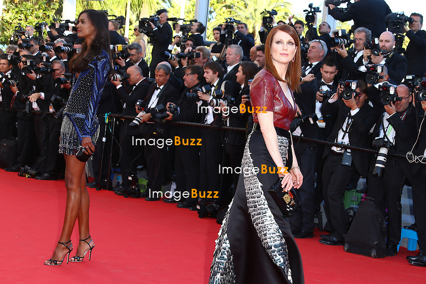 """Julianne Moore attends the """"'Mr Turner'"""" premiere during the 67th Annual Cannes Film Festival on May 15, 2014 in Cannes, France"""