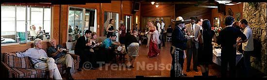 Eating cake at Andrew Faulkner's wedding<br />