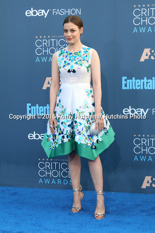 LOS ANGELES - DEC 11:  Gillian Jacobs at the 22nd Annual Critics' Choice Awards at Barker Hanger on December 11, 2016 in Santa Monica, CA