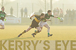 Andrew Kenneally Dr. Crokes v Darragh Breen Nemo Rangers in their AIB Senior Club Football Championship Munster Final at Mallow GAA Grounds on Sunday 30th January 2011.
