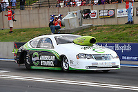 Jul. 19, 2013; Morrison, CO, USA: NHRA pro stock driver Deric Kramer during qualifying for the Mile High Nationals at Bandimere Speedway. Mandatory Credit: Mark J. Rebilas-
