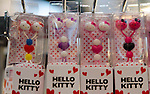 February 8th, 2012 : Tokyo, Japan – Hello Kitty shaped earphones are displayed for The 73rd Tokyo International Gift show 2012 at Tokyo Big Sight. There are over 3 million items including gift products and everyday goods. 2500 exhibitors showcase their unique products. This exhibition is held from February 8 to 10. (Photo by Yumeto Yamazaki/AFLO).