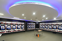 A general view of the home changing rooms. The Clash, Aviva Premiership match, between Bath Rugby and Leicester Tigers on April 7, 2018 at Twickenham Stadium in London, England. Photo by: Patrick Khachfe / Onside Images