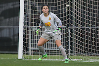 Piscataway, NJ, May 7, 2016.  Sabrina D'angelo (1) of the Western New York Flash prepares to defend a free kick.  The Western New York Flash defeated Sky Blue FC, 2-1, in a National Women's Soccer League (NWSL) match at Yurcak Field.