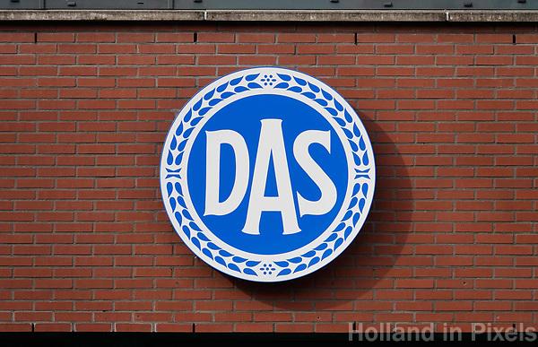 Nederland - Zaandam - 2018.   Logo van DAS. Rechtsbijstandverzekering, rechtshulp, incasso.   Foto Berlinda van Dam / Hollandse Hoogte