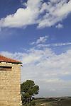 Israel, Shephelah, view from Deir Rafat Monastery