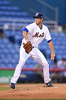 Binghamton Mets pitcher Steven Matz (11) delivers a pitch during a game against the Bowie Baysox on August 3, 2014 at NYSEG Stadium in Binghamton, New York.  Bowie defeated Binghamton 8-2.  (Mike Janes/Four Seam Images)
