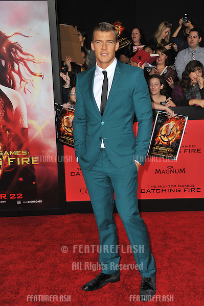 Alan Ritchson at the US premiere of his movie &quot;The Hunger Games: Catching Fire&quot; at the Nokia Theatre LA Live.<br /> November 18, 2013  Los Angeles, CA<br /> Picture: Paul Smith / Featureflash