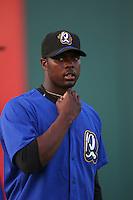 May 14 2009: Jeremy Haynes of the Rancho Cucamonga Quakes before game against the High Desert Mavericks at The Epicenter in Rancho Cucamonga,CA.  Photo by Larry Goren/Four Seam Images