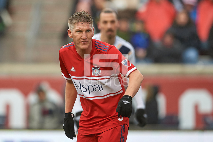 Bridgeview, IL - Saturday April 14, 2018: Bastian Schweinsteiger during a regular season Major League Soccer (MLS) match between the Chicago Fire and the LA Galaxy at Toyota Park.  The LA Galaxy defeated the Chicago Fire by the score of 1-0.