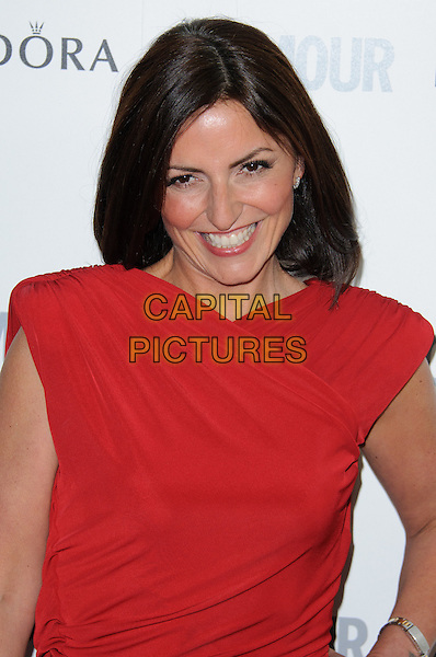 Davina McCall.The Glamour Women of the Year Awards 2011 - inside arrivals London, England..June 7th, 2011.half length red sleeveless dress smiling .CAP/CJ.©Chris Joseph/Capital Pictures.