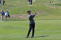 Thorbjorn Olesen (DEN) on the 1st fairway during Round 3 of the Open de Espana 2018 at Centro Nacional de Golf on Saturday 14th April 2018.<br /> Picture:  Thos Caffrey / www.golffile.ie<br /> <br /> All photo usage must carry mandatory copyright credit (&copy; Golffile | Thos Caffrey)
