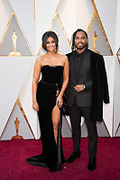 Miguel and guest arrive on the red carpet of The 90th Oscars&reg; at the Dolby&reg; Theatre in Hollywood, CA on Sunday, March 4, 2018.<br /> *Editorial Use Only*<br /> CAP/PLF/AMPAS<br /> Supplied by Capital Pictures