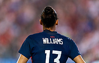 FRISCO, TX - MARCH 11: Lynn Williams #13 of the United States looks to the ball during a game between Japan and USWNT at Toyota Stadium on March 11, 2020 in Frisco, Texas.