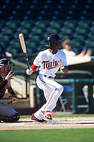 Surprise Saguaros Nick Gordon (11), of the Minnesota Twins organization, during a game against the Peoria Javelinas on October 20, 2016 at Surprise Stadium in Surprise, Arizona.  Peoria defeated Surprise 6-4.  (Mike Janes/Four Seam Images)