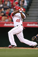06/08/11 Anaheim, CA: Los Angeles Angels right fielder Torii Hunter #48 during an MLB game between the Tampa Bay Rays and The Los Angeles Angels  played at Angel Stadium. The Rays defeated the Angels 4-3 in 10 innings