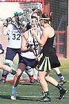 Santa Barbara, CA 02/18/12 - Samantha Fannin (UC Davis #22) and Hayley Bernstein (Colorado State #15) in action during the UC Davis - Colorado State game at the 2012 Santa Barbara Shootout.  Colorado State defeated UC Davis 10-9.