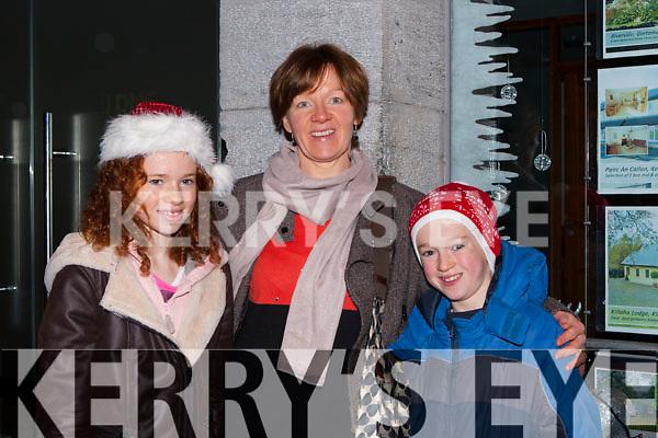 Aoibhín, Helen and Donnacha Whelton enjoying the Kenmare Christmas celebrations on Saturday night
