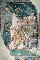 Christ,fresco,old narthex,saints,nave,Milesheva  Monastery of Ascension of the Lord , 1234-1235