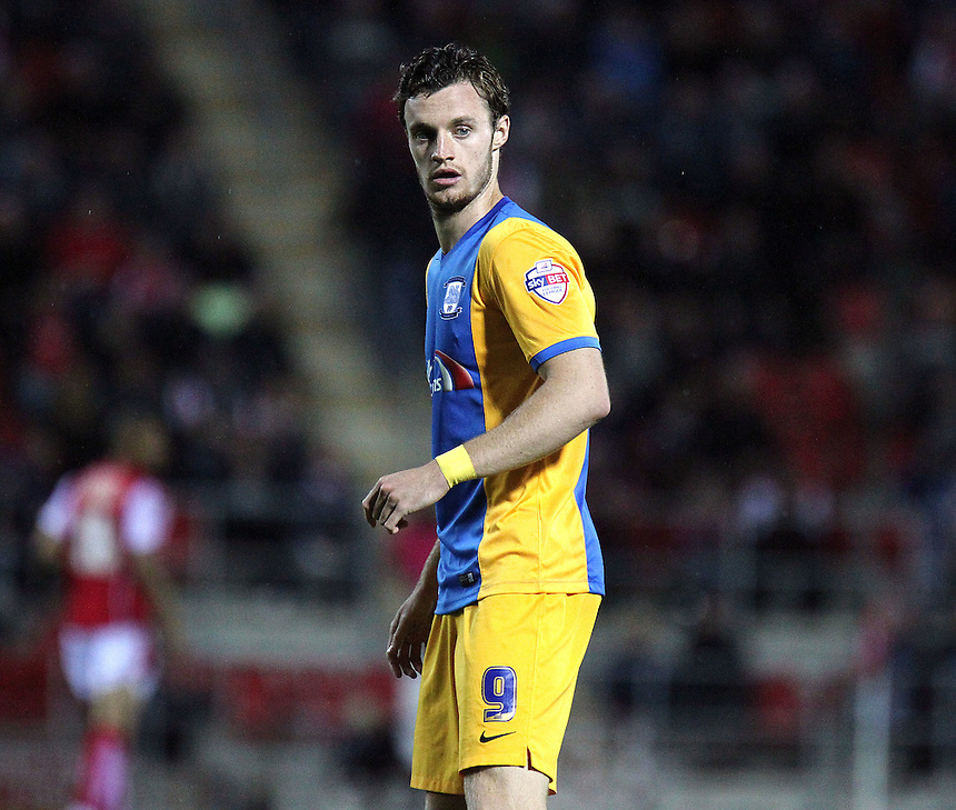 Preston North End's Will Keane<br /> <br /> Photographer Rich Linley/CameraSport<br /> <br /> Football - The Football League Sky Bet Championship - Rotherham United v Preston North End - Tuesday 18th August 2015 - New York Stadium - Rotherham<br /> <br /> &copy; CameraSport - 43 Linden Ave. Countesthorpe. Leicester. England. LE8 5PG - Tel: +44 (0) 116 277 4147 - admin@camerasport.com - www.camerasport.com