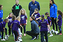 HRH The Duke and Duchess of Cambridge arrives at the Irish Football Association at Windsor Park, Belfast, County Antrim, Wednesday, Feb 27, 2019. Prince William and Kate have started a two day tour of Northern Ireland. They displayed their football skills with young local children.  Photo/Paul McErlane