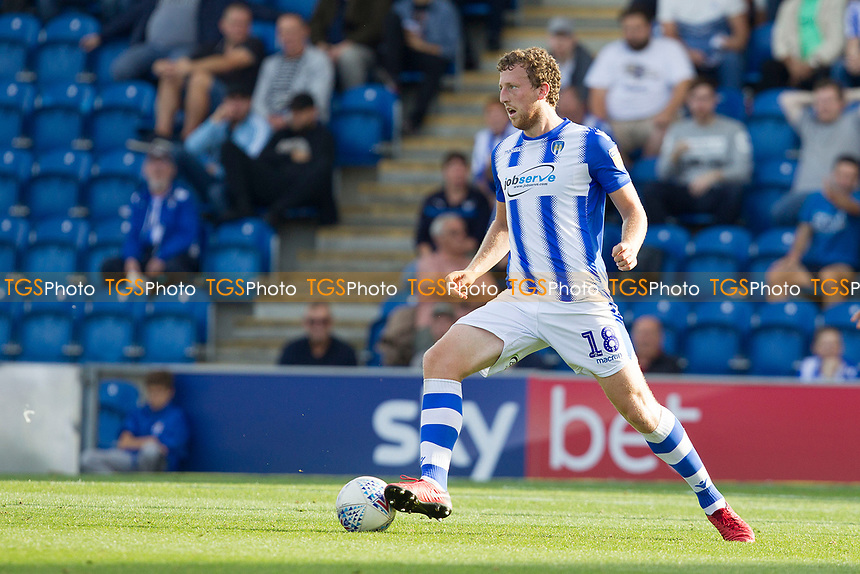 Tom Eastman of Colchester United in action during Colchester United vs Crawley Town, Sky Bet EFL League 2 Football at the JobServe Community Stadium on 13th October 2018