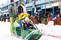Andy Pohl during the ceremonial start of the 2018 Iditarod in Anchorage, Alaska on Saturday, March 1 2018.<br /> <br /> Photo by Jeff Schultz/SchultzPhoto.com  (C) 2018  ALL RIGHTS RESERVED