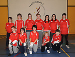 Louth juvenile handball team pictured at the new handball courts at O'Raghalligh's. Photo: Colin Bell/pressphotos.ie