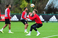 Joe Rodon of Wales in action during the Wales Training Session at The Vale Resort in Cardiff, Wales, UK. Saturday 12 October 2019