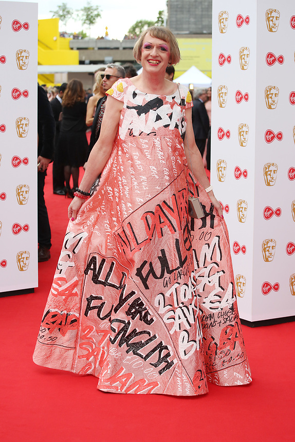Grayson Perry <br />  arriving at the Bafta Tv awards 2017. Royal Festival Hall,London  <br /> ©Ash Knotek