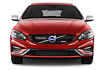 Car photography straight front view of a 2017 Volvo V60 T6-R-Design 5 Door Wagon Front View