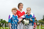 St Pats Blennerville GAA Cul Camp on Friday. Pictured, l-r: Julie Foley, Casey-Anne O'Donnell and Laura Devane.