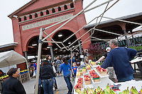 A shed of the Detroit Eastern Farmers market is seen in Detroit (Mi) Saturday June 8, 2013. The largest open-air flowerbed market in the United States, the Eastern Market is a historic commercial district in Detroit, Michigan.