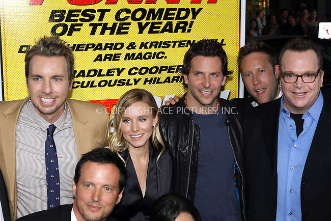 WWW.ACEPIXS.COM....August 14, 2012, Los Angeles, CA.......Actors Dax Shepard, Kristen Bell, Bradley Cooper, Michael Rosenbaum and Tom Arnold arriving at the premiere of 'Hit and Run' on August 14, 2012 in Los Angeles, California. ......By Line: Nancy Rivera/ACE Pictures....ACE Pictures, Inc..Tel: 646 769 0430..Email: info@acepixs.com