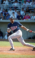 Minnesota Twins Dave Winfield during Spring Training 1993 at City of Palms Park in Fort Myers, Florida.  (MJA/Four Seam Images)