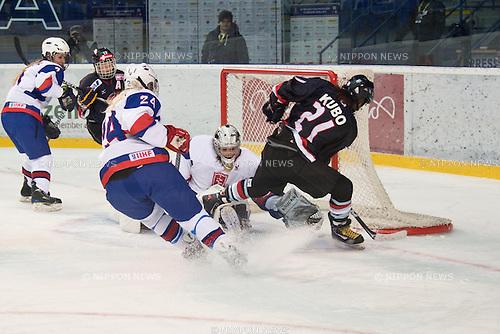 Hanae Kubo (JPN), FEBRUARY 8, 2013 - Ice Hockey : Women's Olympic Ice Hockey Qualification Tournament 2013, Group C, match between Japan 0-1 Slovakia at Ice Stadium, Poprad, Slovakia, (Photo by Enrico Calderoni/AFLO SPORT) [0391]