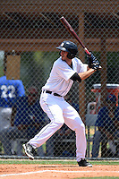 GCL Tigers shortstop Will Kengor (22) at bat during a game against the GCL Blue Jays on June 30, 2014 at Tigertown in Lakeland, Florida.  GCL Blue Jays defeated the GCL Tigers 3-1.  (Mike Janes/Four Seam Images)