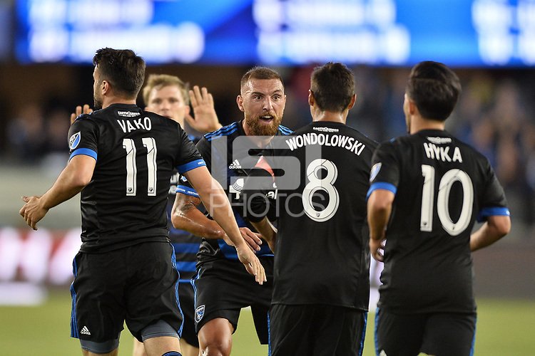 San Jose, CA - Wednesday August 29, 2018: Vako, Guram Kashia during a Major League Soccer (MLS) match between the San Jose Earthquakes and FC Dallas at Avaya Stadium.