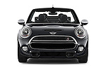 Car photography straight front view of a 2016 MINI Cooper S 2 Door Convertible Front View
