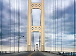 Mackinaw Bridge, Between Michigan's Upper And Lower Peninsulas