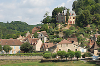 The picturesque hill village of Limeuil on the River Dordogne in Perigord, which is officially one of France's hundred most beautiful villages.