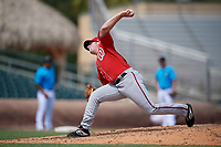 Washington Nationals pitcher Matt Cronin (41) during an Instructional League game against the Miami Marlins on September 25, 2019 at Roger Dean Chevrolet Stadium in Jupiter, Florida.  (Mike Janes/Four Seam Images)