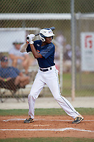 Blake Redman (15) during the WWBA World Championship at the Roger Dean Complex on October 13, 2019 in Jupiter, Florida.  Blake Redman attends Pope High School in Kennesaw, GA and is committed to Ohio State.  (Mike Janes/Four Seam Images)