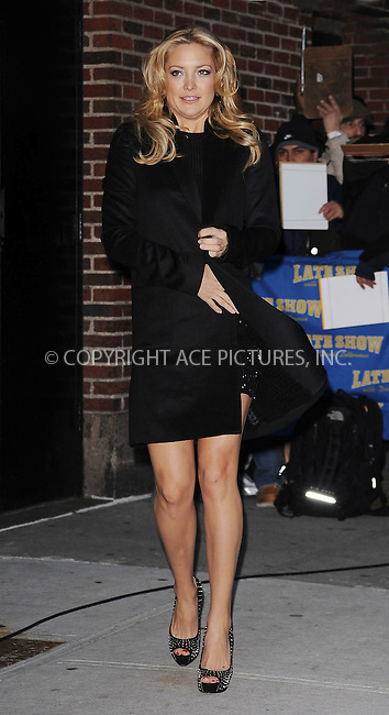 WWW.ACEPIXS.COM . . . . . ....December 10 2009, New York City....Actress Kate Hudson made an appearance at 'The Late Show with David Letterman' on December 10 2009 in New York City....Please byline: KRISTIN CALLAHAN - ACEPIXS.COM.. . . . . . ..Ace Pictures, Inc:  ..tel: (212) 243 8787 or (646) 769 0430..e-mail: info@acepixs.com..web: http://www.acepixs.com